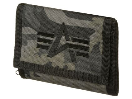Alpha Industries ALPHA Wallet Blackcamo peňaženka