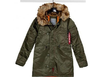 Alpha Industries N3B VF 59 Wmn dámska zimná bunda dark green