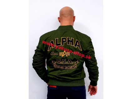 Alpha Industries MA-1 TT Patch SF bunda dark green