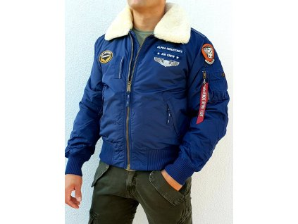 Alpha Industries INJECTOR III AIR FORCE zimná bunda new navy