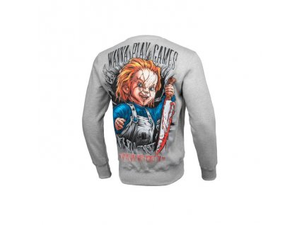Pitbull West Coast mikina CHUCKY crewneck grey