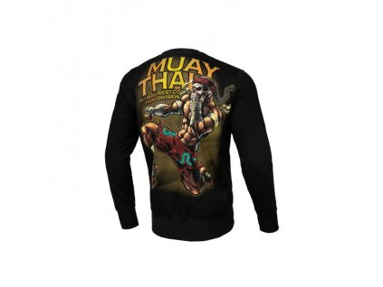 Pitbull West Coast mikina MUAY THAI 2019 crewneck black