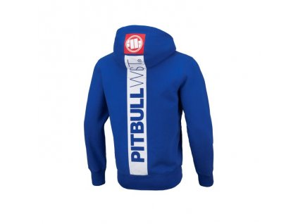 Pitbull West Coast HILLTOP II Royal blue mikina na zips s kapucňou