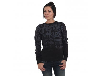 Yakuza mikina dámska ROTTING BODY GRADIENT SWEATER GPB 14113 black