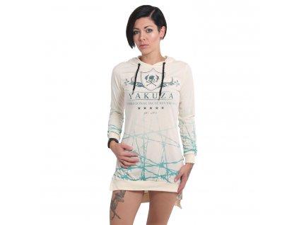 Yakuza BARBWIRE HOODED dámske tričko s dlhým rukávom GLSB 14163 afterglow