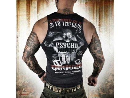 Yakuza tielko pánske Psycho Circus Tank UHB 8052 black melange