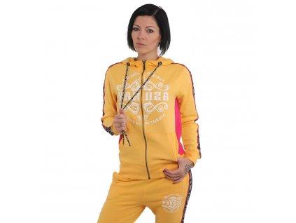 Yakuza TRACK TAPE dámska mikina na zips GHZB 14109 pale marigold