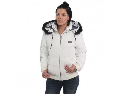 Yakuza ORNAMENTIC WINTER BOMBER JACKET dámska bunda GJB 14118 white