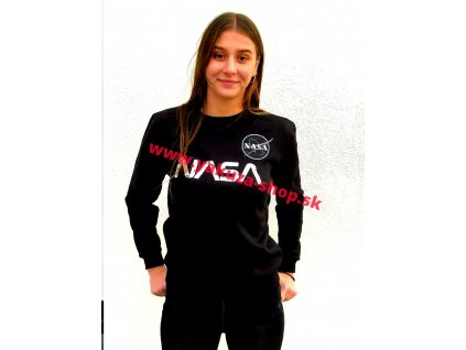 Alpha Industries dámska mikina NASA PM Sweater Wmn Black/Chrome