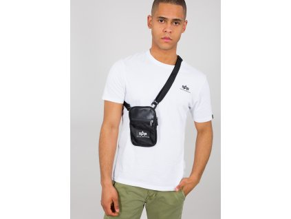 Alpha Industries Rubber Print Utility Bag black taška na rameno