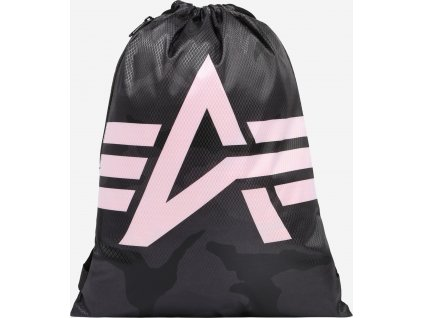 Alpha Industries Basic Gym Bag Blackcamo vrecko na obuv