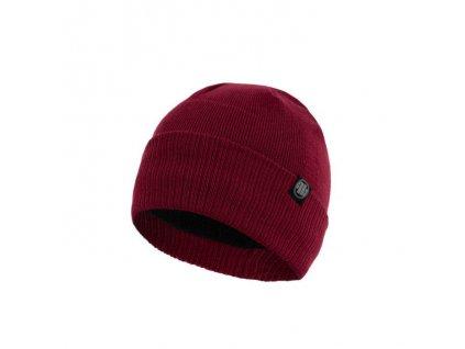 Pitbull West Coast zimná čiapka pletená SMALL LOGO burgundy