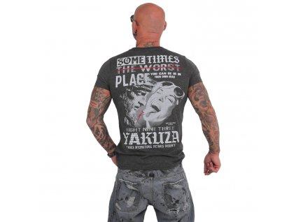 Yakuza SOMETIMES tričko pánske TSB 15026 dark grey