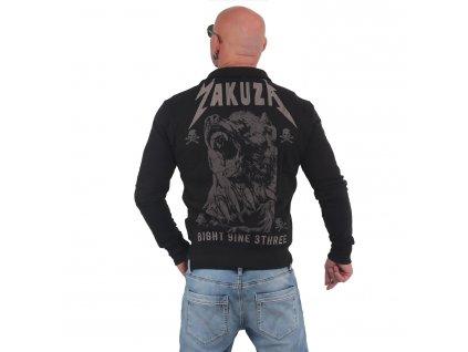 Yakuza BEAST mikina na zips ZB 14019 black