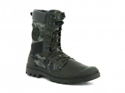 Palladium módne topánky TACTICAL OPS CAMO WATERPROOF OLIVE NIGHT