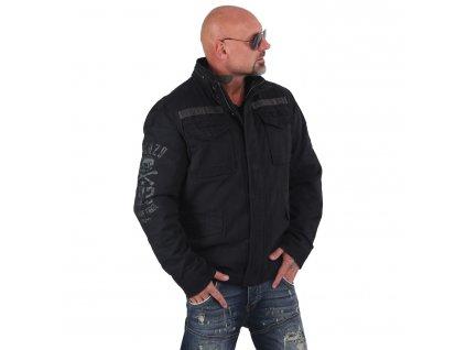Yakuza bunda MEMENTO MORI PARKA pánska zimná bunda WJB 14027 black