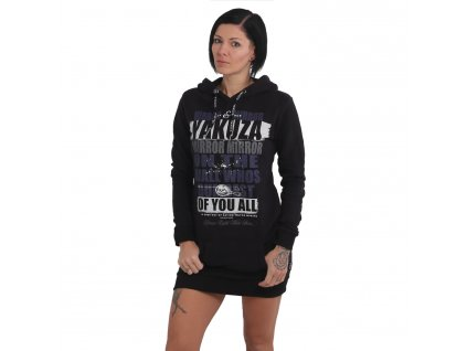 Yakuza dámska dlhá mikina MIRROR - šaty GKB 15105 black