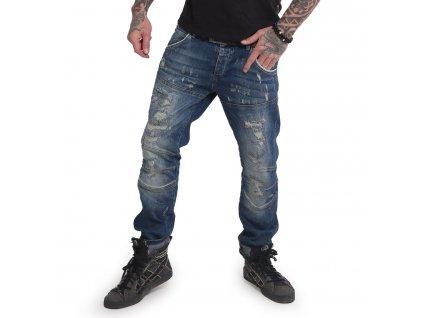 Yakuza jeansy pánske GIMP V02 SLIM JEANS JEB 15063 blue havoc