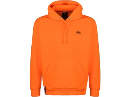 Alpha Industries Small Logo Hoody pánska mikina neon orange