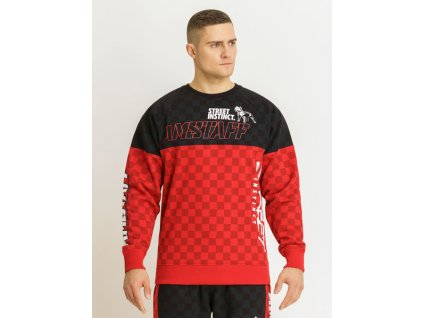 Amstaff DEXTA Sweater Black Red mikina pánska
