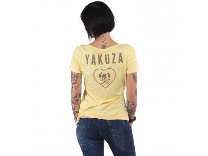 Yakuza dámske tričko 893LOVE V Neck GSB 15117 pale banana
