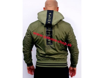 Alpha Industries MA-1 TT Hood Defense bunda pánska olive