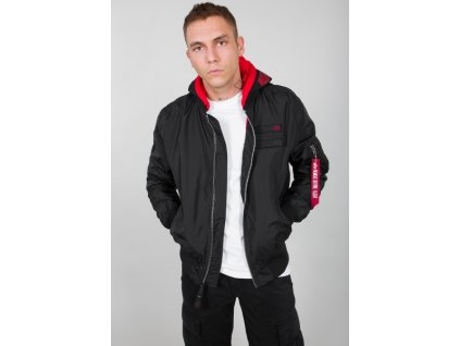 Alpha Industries MA 1 TT Hood Custom bunda pánska black h