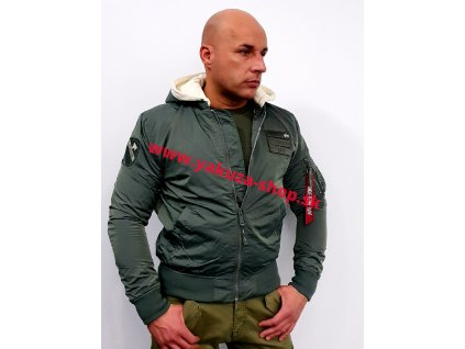 Alpha Industries MA-1 TT Hood Custom bunda pánska vintage green