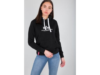 Alpha Industries dámska mikina New Basic Hoody Wmn black a