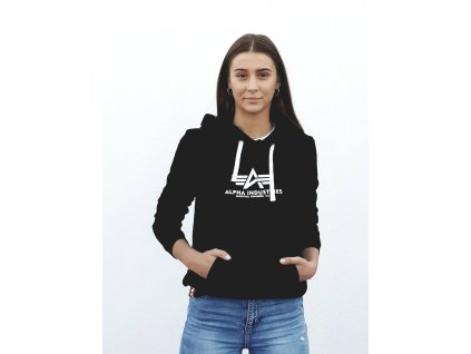 Alpha Industries dámska mikina New Basic Hoody Wmn black