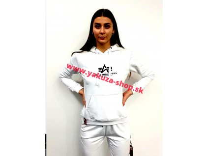 Alpha Industries dámska mikina New Basic Hoody Wmn white