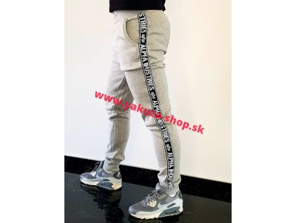 Alpha Industries AI TAPE JOGGER tepláky grey heather