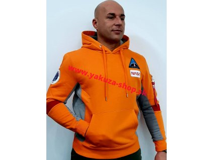 Alpha Industries SPACE CAMP Hoody pánska mikina orange