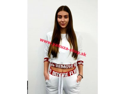 Alpha Industries RBF Cropped Sweater Wmn dámska mikina white