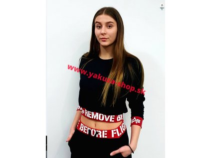 Alpha Industries RBF Cropped Sweater Wmn dámska mikina black