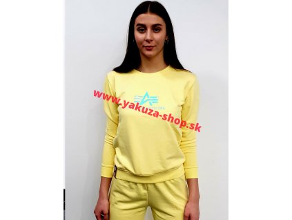 Alpha Industries Rainbow Sweater Wmn pastel yellow