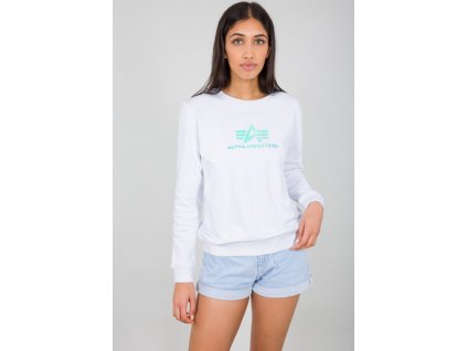 Alpha Industries Rainbow Sweater Wmn white mikina dámska   e