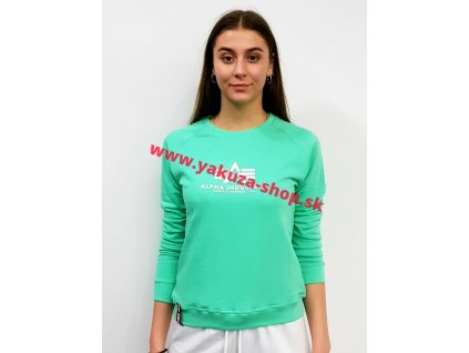 Alpha Industries dámska mikina New Basic Sweat Wmn pastel mint