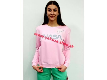 Alpha Industries dámska mikina NASA PM Sweater Wmn Pastel Neon Pink