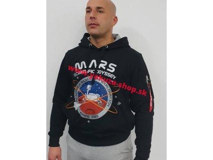 Alpha Industries MissionTo Mars Hoody pánska mikina black