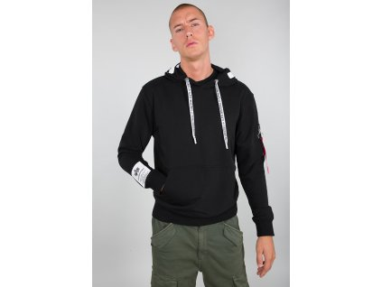 Alpha Industries Alpha Hoody pánska mikina black d