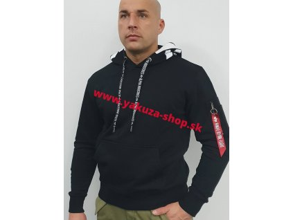 Alpha Industries Alpha Hoody pánska mikina black