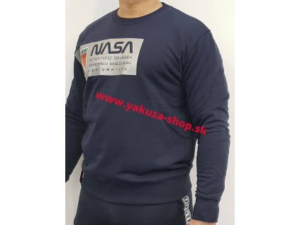 Alpha Industries Mars Reflective Sweater pánska mikina rep blue