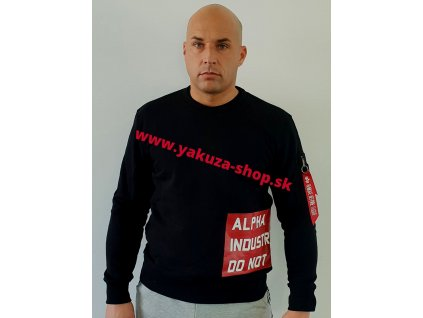Alpha Industries Do Not Remove Sweater pánska mikina black