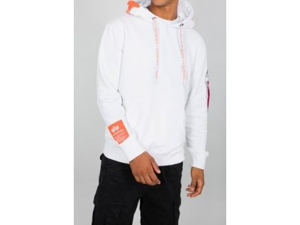 Alpha Industries Alpha Hoody pánska mikina white e