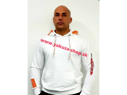 Alpha Industries Alpha Hoody pánska mikina white