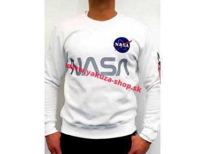 Alpha Industries mikina NASA Reflective white