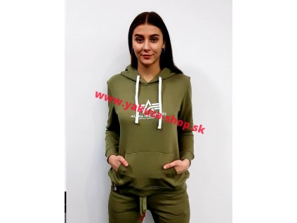 Alpha Industries dámska mikina New Basic Hoody Wmn olive