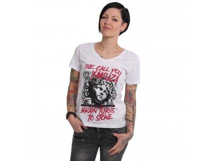Yakuza dámske tričko STONE V Neck GSB 15125 white