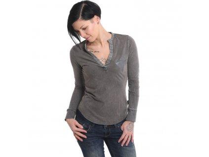 Yakuza ROSE OF 893 dámske tričko s dlhým rukávom GLSB 15113 black dye